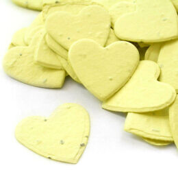 heart confetti yellow