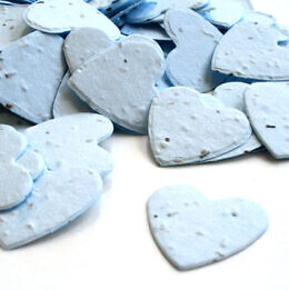 plantable confetti heart blue