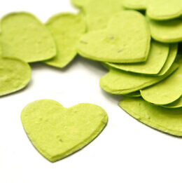 plantable confetti heart lime_green