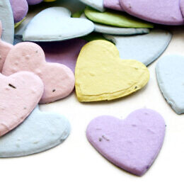 plantable heart confetti pastel mix