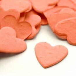 plantable confetti heart coral