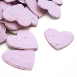 plantable confetti heart lavender