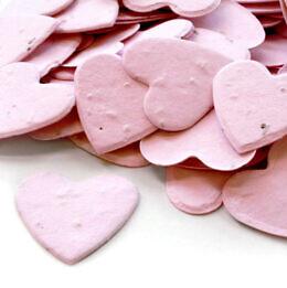 plantable heart confetti pink
